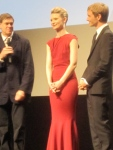 "The Stars of the movie ""Restless"" (Left to Right) Director Gus Van Sant, the guy that directed Milk and Good Will Hunting, Mia Wasikowska, the girl from Alice in Wonderland, and Henry Hopper, Dennis Hopper's son."