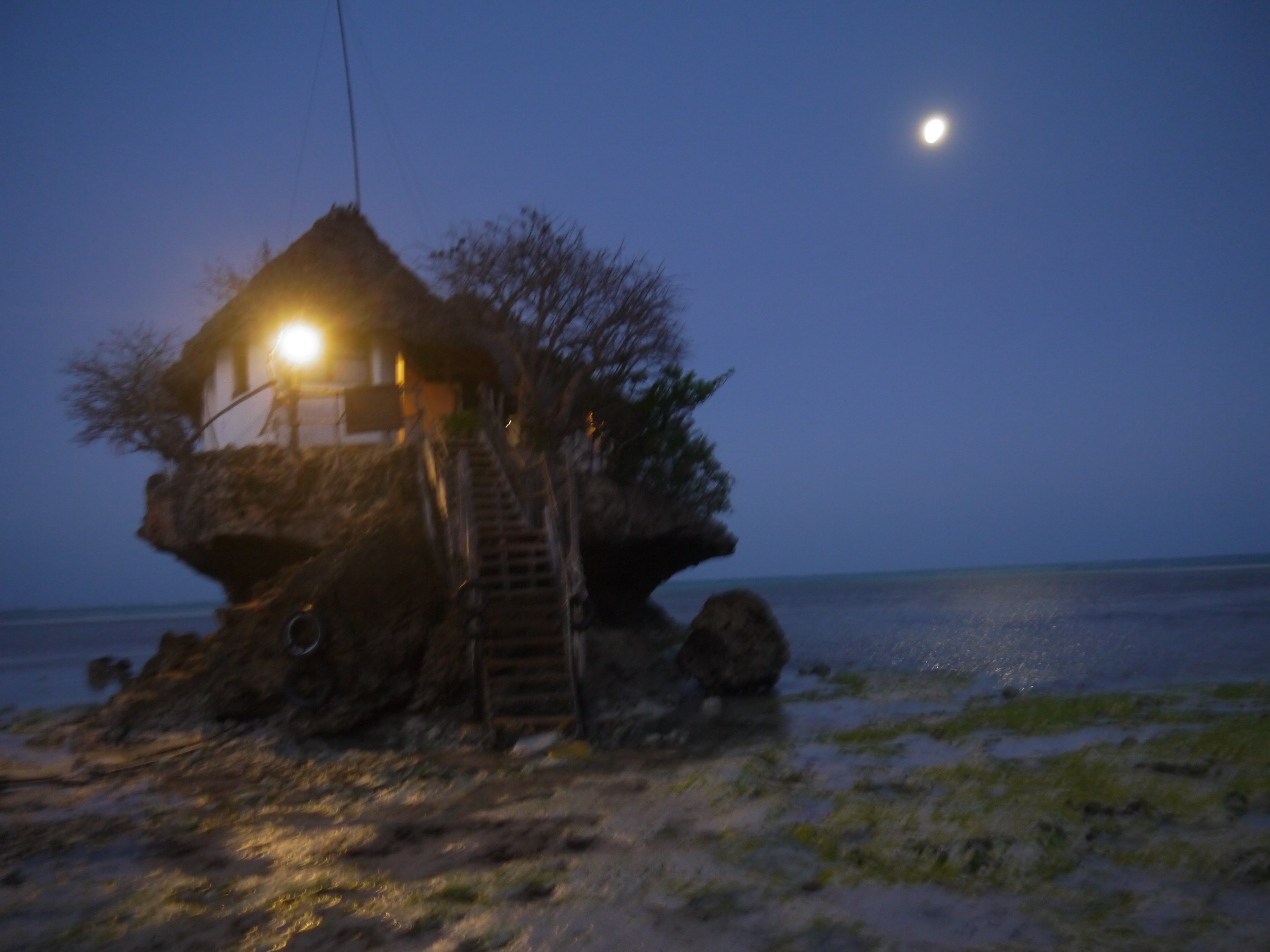 This Famous Zanzibar Restaurant Is Called The Rock. While Over Priced,  Youu0027re Completely Paying For The Experience.
