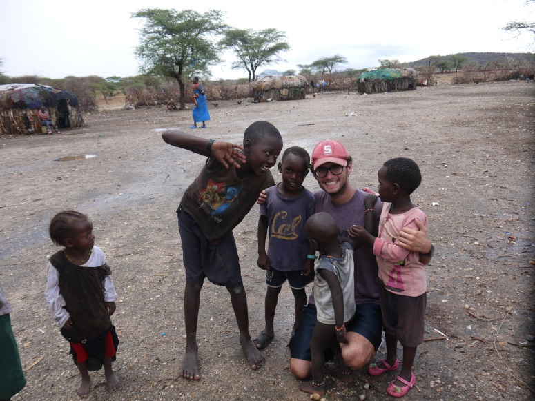 Somehow this kid in the middle of nowhere Africa was wearing a Cal shirt so we took a moment to bridge the rivalry. I don't think the tribes people understood.