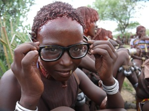 Debatably my single favorite picture of the trip. This girl wanted to try on my glasses.